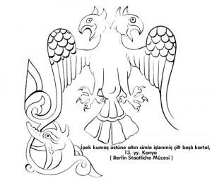 Bir Rumi motif örneği:Çift başlı kartal