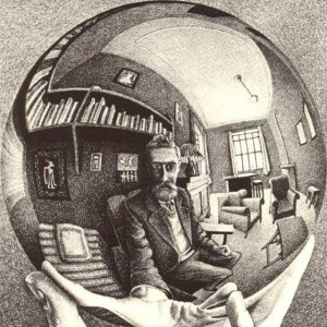 escher-self portrait