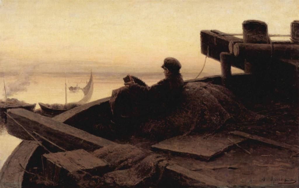 Abram Arkphipov - Volga Kıyısında - Çarlık Rusyası Resim Sergisi - Pera Müzesi