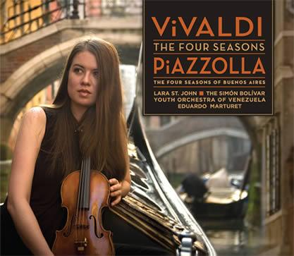 """Kızıl Papaz Vivaldi ile Bandoneoncu Piazzolla'nın Dört Mevsim beraber """"Suyun Kıyısında Yaşam ve Ölüm""""ü - Lara St. John - Akbank Oda Orkestrası Konser Notları"""