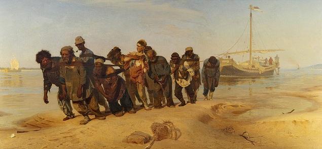 İlya Repin - Volga Kıyısında Burlaklar - Çarlık Rusyası Resim Sergisi - Pera Müzesi