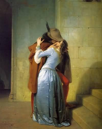 Francesco-Hayez-The-Kiss, Öpüş, 1859, Milano Brera Resim Galerisi