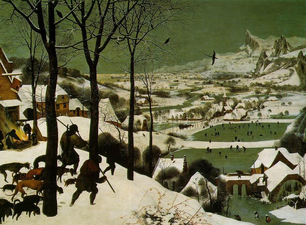 Pieter Bruegel the Elder - Karda Avcılar - Hunters  in the Snow - 1565 -  tuval üzerine yağlıboya