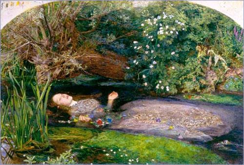 John Everett Millais - Ophelia-1852