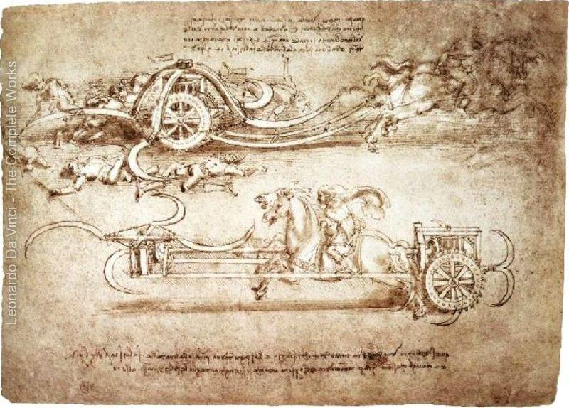 Tırpanlı Savaş Arabaları - Leonardo'nun Çizimleri - the Great Masters Sergisi