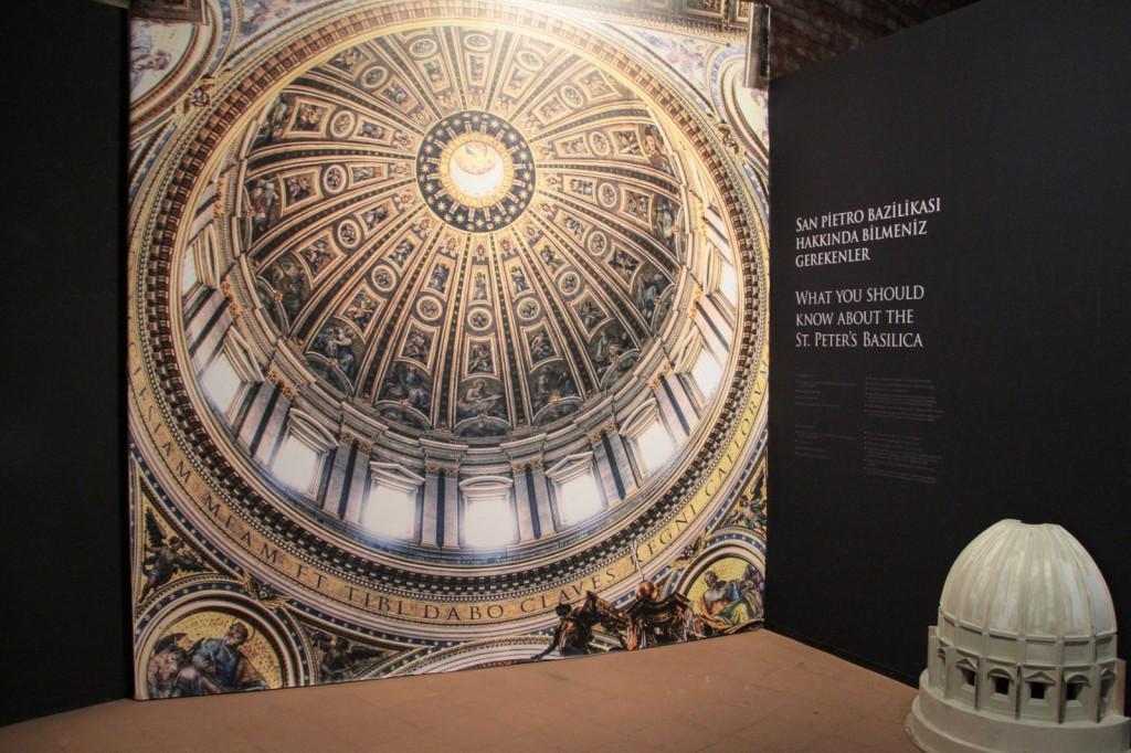 San Pietro Bazikilası Kubbesi - The Great Masters Sergisi: Leonardo, Michelangelo ve Raffaello Fotoğraf: Reha Başoğul