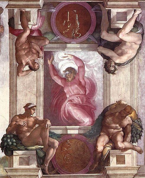 Işığın ve Karanlığın Ayrılması(The Separation of Light and Darkness) - Michelangelo - Sistine Şapeli Tavanı
