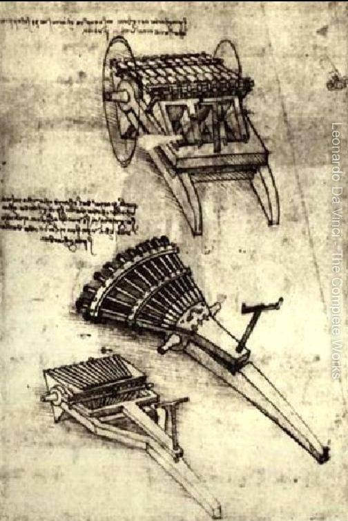 Çok Namlulu Tüfek - Leonardo'nun Çizimleri - the Great Masters Sergisi