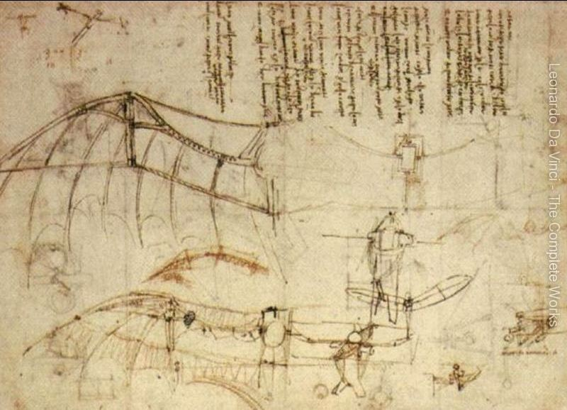 Uçak - Leonardo'nun Çizimleri - The Great Masters Sergisi