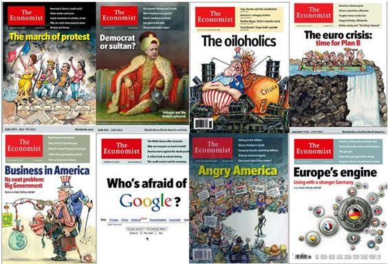 Başbakan Erdoğan'ın Sultan mı Demokrat mı incelemesi yazan ve tüm dünyada Gezi Parkı benzeri protestoları inceleme konusu yapan The Economist dergisine AKP kanadından tepkiler gösterilmesine rağmen, diğer kapak konularına bakmayı akıl eden herkes The Economist'in gündemi analiz odaklı eleştirel bir çizgide ilerlediğini çözebilir.