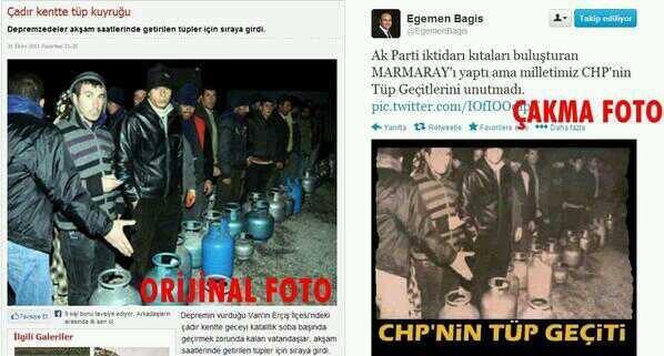 AB Eski Bakanı, AKP mv ve hakkında rüşvet operasyonunda fezleke düzenlenen Egemen Bağış'ın muhalefet partisi CHP'nin olduğunu öne sürdüğü propagandasının aslında vakanın kendi AKP döneminde olduğunun sosyal medya kullanıcıları tarafından ortaya çıkartılması