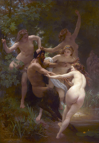 Nymphs and Satyr - 1873 Adolphe Bourguereau